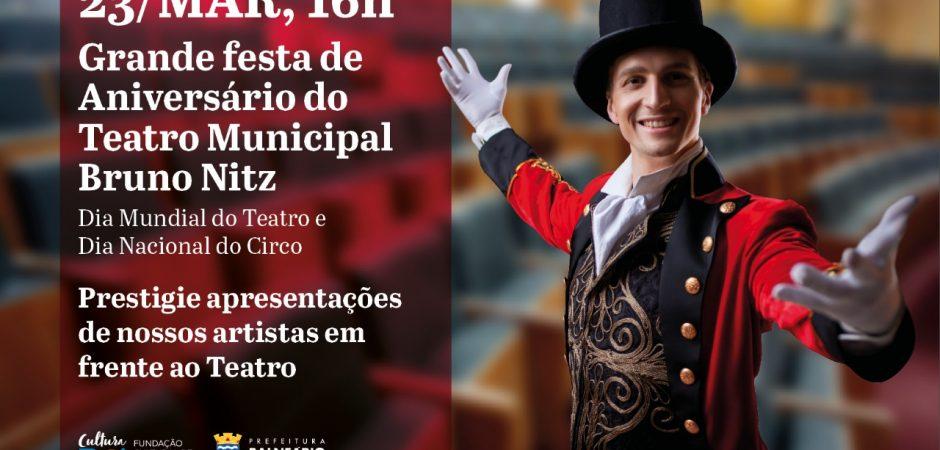 Programação especial celebra os cinco anos do Teatro Municipal neste sábado