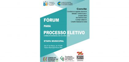 Processo eletivo para o Conselho Estadual de Cultura – Etapa Municipal