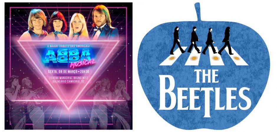 Teatro Municipal terá tributo ao ABBA na sexta-feira e aos Beatles no sábado