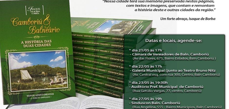 Livro que conta a história de Balneário Camboriú e Camboriú será lançado nesta quarta