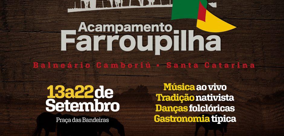 Acampamento Farroupilha de Balneário Camboriú será de 13 a 22 de setembro