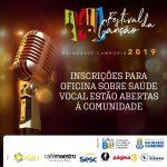 Festival da Canção: inscrições para oficina sobre saúde vocal estão abertas à comunidade