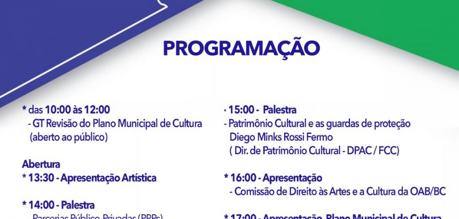 Nesta terça-feira tem Fórum de Cultura no Teatro Municipal