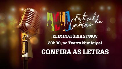 Festival da Canção: Letras da eliminatória de 27/11 (quarta-feira)