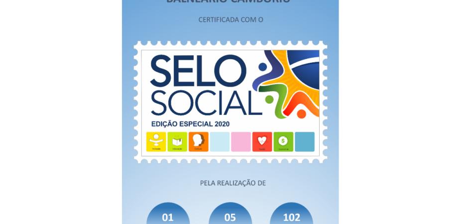 Fundação Cultural de Balneário Camboriú recebe Selo Social