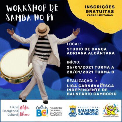 Workshop de samba no pé – Lei Aldir Blanc