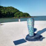 Escultura embeleza Molhe do Pontal Norte