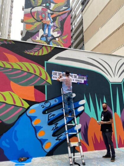 Praça da Cultura ganha Mural do Conhecimento