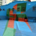 Arte anamórfica embeleza Praça da Cultura