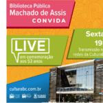 Biblioteca Machado de Assis comemora 53 anos com live nesta sexta-feira