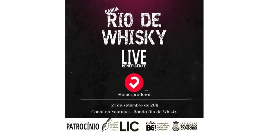 HOJE, 20H – Banda Rio de Whisky faz live em prol da Associação Amor para Down